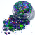 Toil and Trouble - Purple & Green Halloween Holographic Loose Cosmetic & Craft