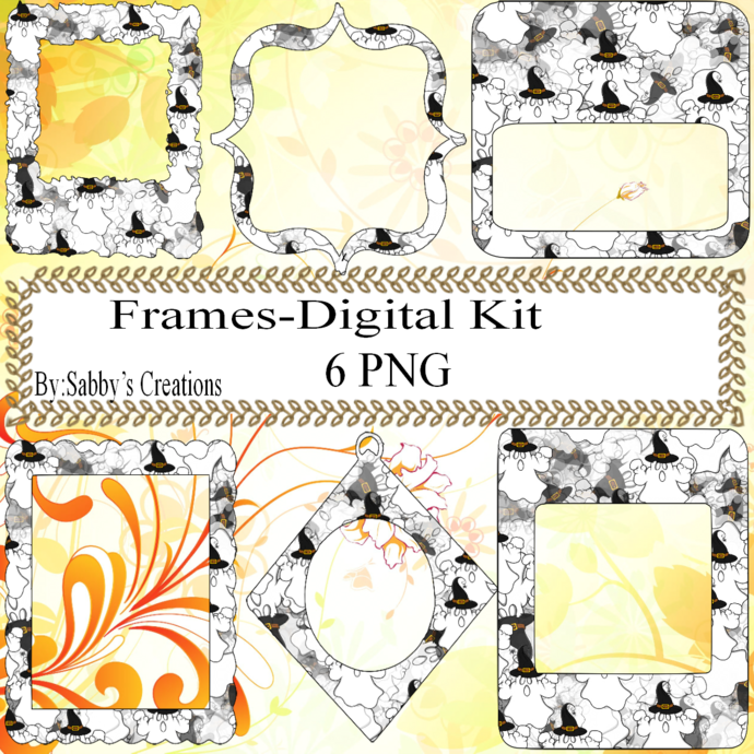 Frames Shapes 1Z-Digital Kit-Jewelry Tag-Clipart-Gift Tag-Holiday-Digital