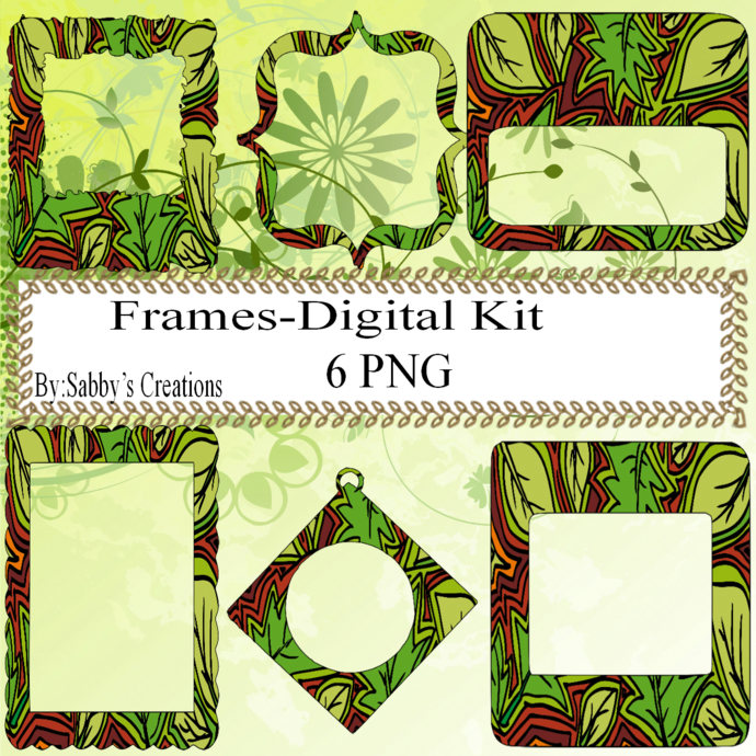 Frames Shapes 2B-Digital Kit-Jewelry Tag-Clipart-Gift Tag-Holiday-Digital
