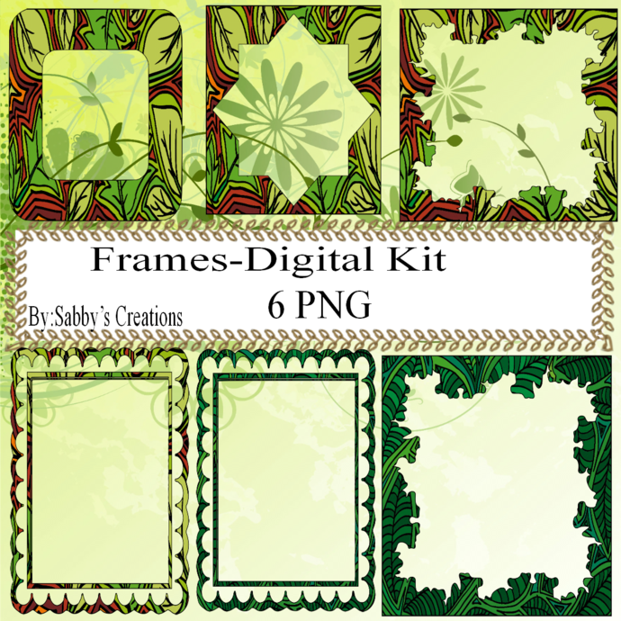 Frames Shapes 2C-Digital Kit-Jewelry Tag-Clipart-Gift Tag-Holiday-Digital