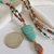 Turquoise Owl Beaded Lanyard, Gemstone Badge Holder, Eyeglass Leash, Gift for