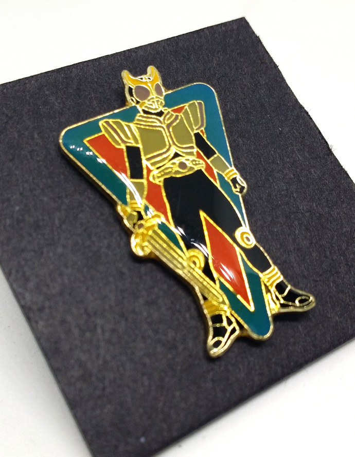 Masked Rider Kuuga Pin Badge (03) - TOEI Japanese Anime Kamen Rider - New Unused