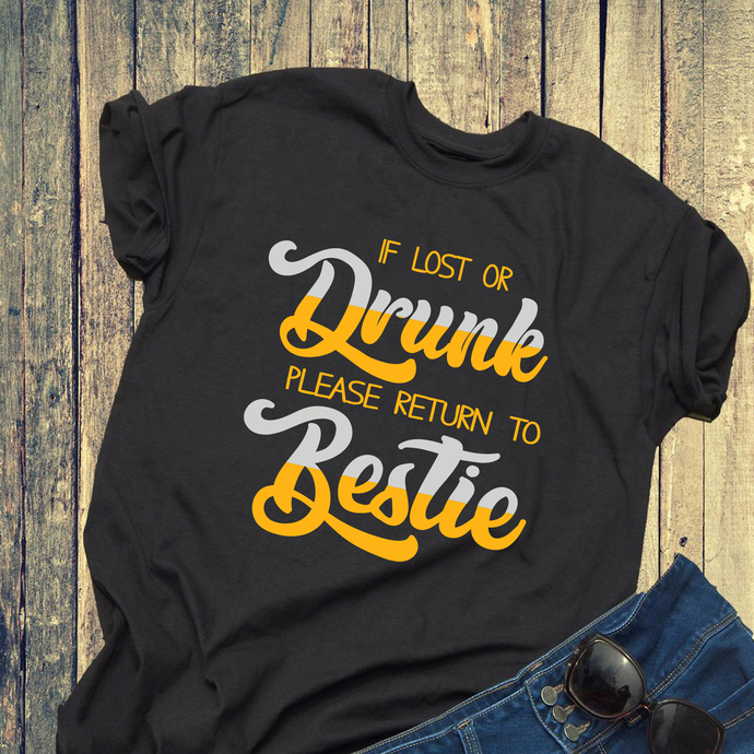 If lost or drunk please return to bestie, drinking beer svg, beer svg, deer day,