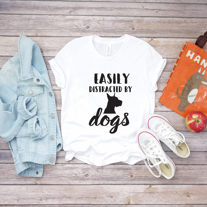 Easily distracted by dogs, dogs svg, dog shirt svg, print shirt, digital file,