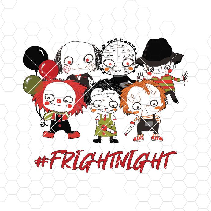 Halloween-Frightnight Digital Cut Files Svg, Dxf, Eps, Png, Cricut Vector,