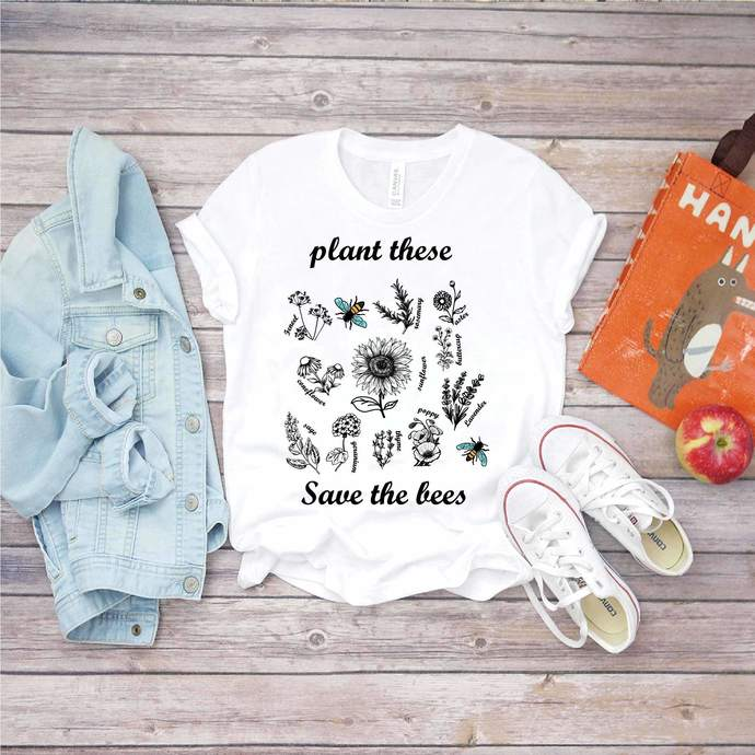 Plant These Save The Bees Svg, Beekeepers Svg, Plant Svg, Bees Love Flower,