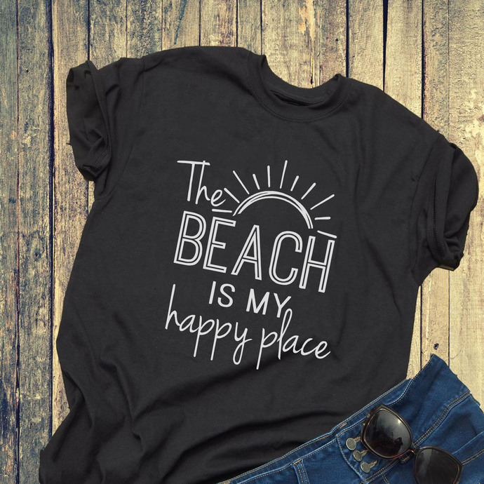 The Beach Is My Happy Place Svg, My Happy Place Svg, The Beach Svg, Shirt For