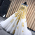 Beautiful Tulle Long Sleeves with Gold Applique Formal Gown, Sweet 16 Dresses