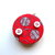 Tape Measure Yarn Balls on Red Small Measuring Tape
