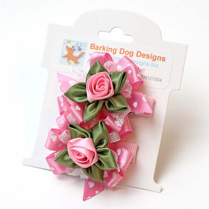 Hair Clips Set of 2, Pink
