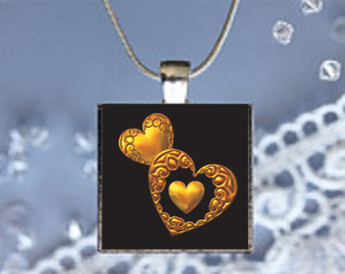 Pendant Necklace Hearts