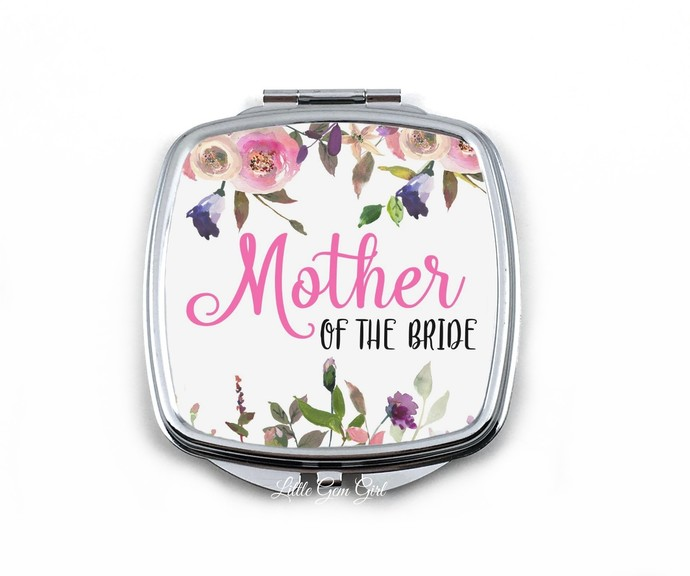 Mother of the Bride Wedding Favor Gift from Bride - Square Watercolor Flower
