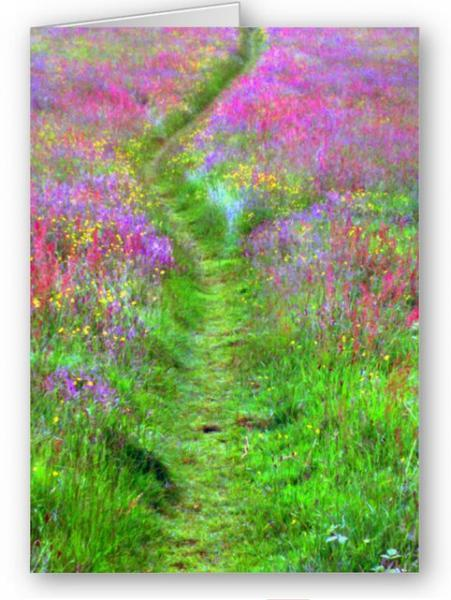 Path to the Woods Digital Art Greetings Card