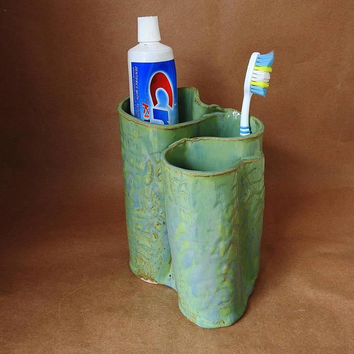 Pottery Toothbrush Holder, Makeup Brush Holder, Pen & Pencil Holder, Pencil