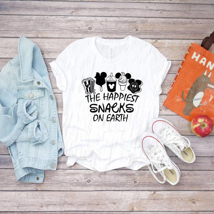 The Happiest Snacks On Earth Svg, Disney Svg, Mickey Svg, Disney Princess Svg,