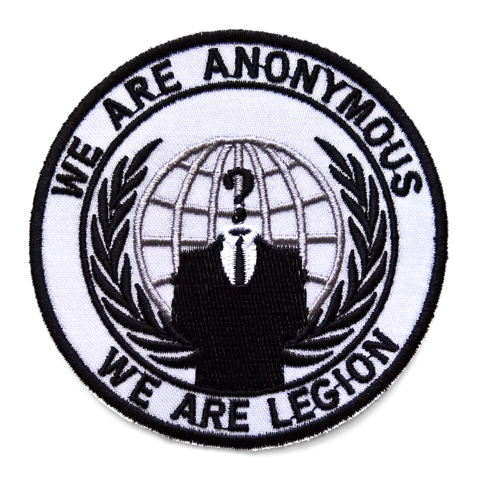 Anonymous patch Sew on We are Anonymous We are Legion