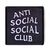Anti Social patch Embroidered Sew on Black