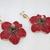 """Handmade earrings """"Hibiscus"""""""