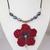 "Handmade necklace ""Hibiscus"""