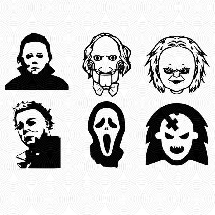 Horror Movie Villain Svg, Halloween Svg, Horror Movie Characters Silhouette