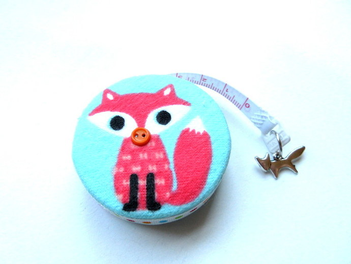Tape Measure Orange and Purple Foxes Retractable Measuring Tape