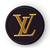 LV patch with metallic threads Louis Vuitton logo 2 inches