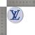LV patch Blue Louis Vuitton logo 2 inches
