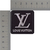 LV patch with silver metallic threads Louis Vuitton logo 2 inches