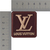 LV patch Brown and Beige Louis Vuitton logo 2 inches