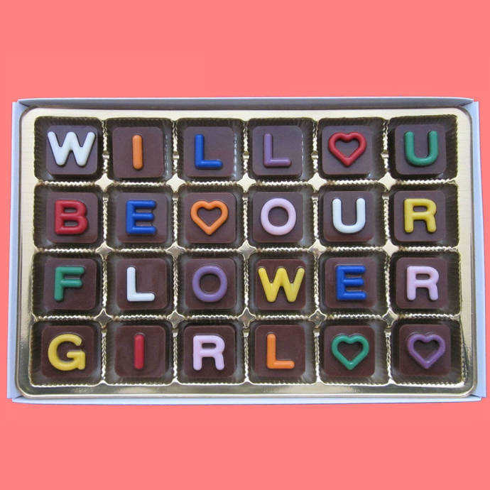 Will You Be Our My Flower Girl Chocolate Gift Personalized Flower Girl Gift Idea