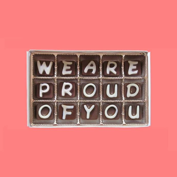 We Are So Proud of You Gift Chocolate Message Graduation Gift Well Gone Gift New