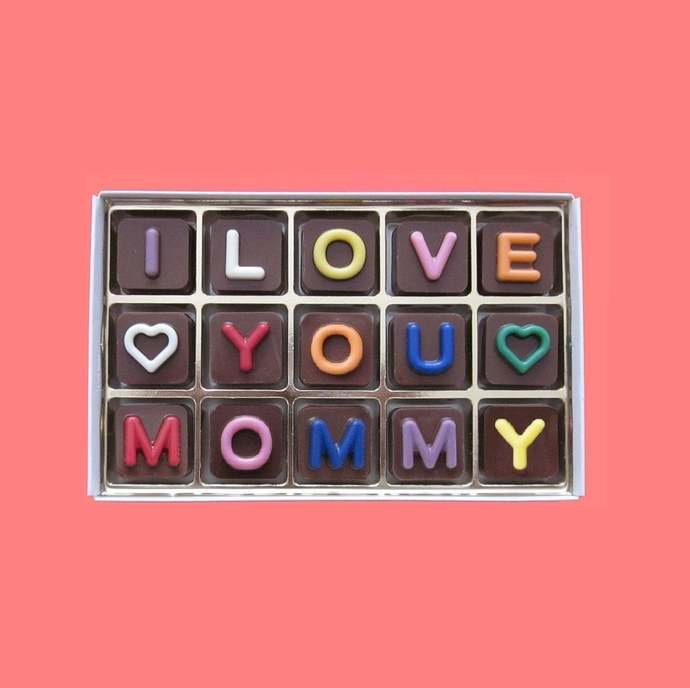 I Love You Mommy Chocolate Long Distance Mother Gift for Mom from Daughter Son
