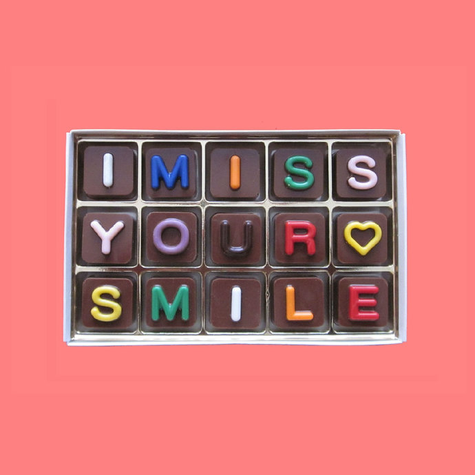 I Miss Your Smile Chocolate Box Long Distance Gift Best Friend Gift Friendship