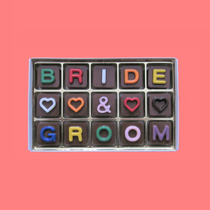 Bride And Groom Chocolate Wedding Gift for Couple on Wedding Day Personalized
