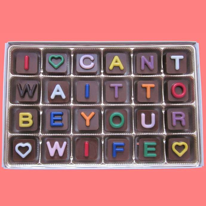 I Can't Wait To Be Your Wife Chocolate Gifts Wedding Gift for Groom On Our