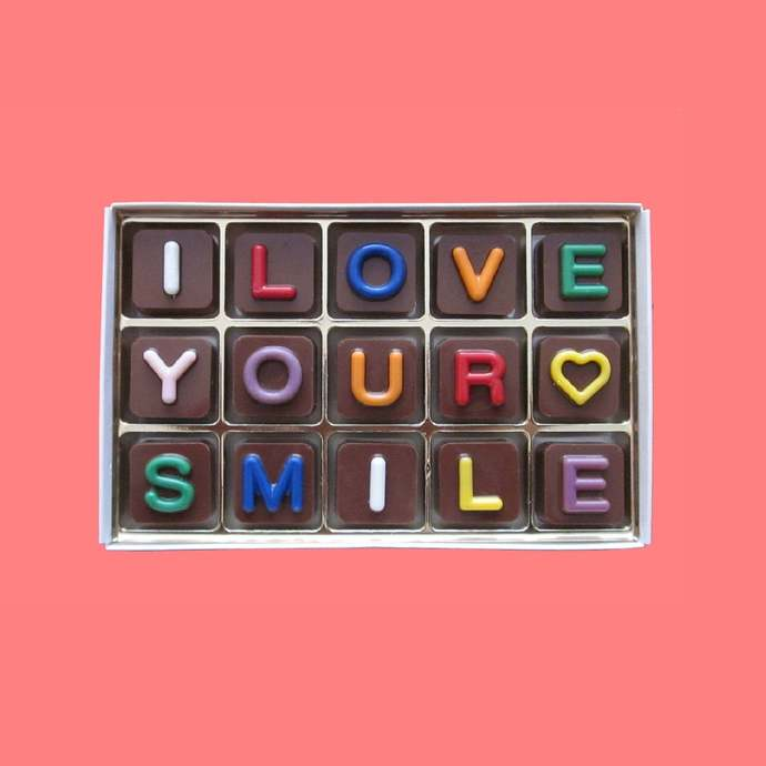 I Love Your Smile Chocolate I Love You Gifts Girlfriend Anniversary Gift for