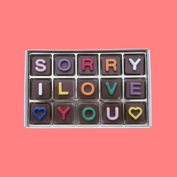 Sorry I Love You Chocolate Gift for Girlfriend Gift I Am Sorry Apology Gift for