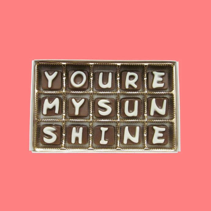 You're My Sunshine Chocolate Unique Valentines Gift Idea Boyfriend Gift from