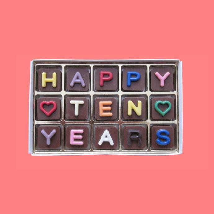 Happy 10th Anniversary Chocolate Husband Gift Wife Gift 10 Years Anniversary