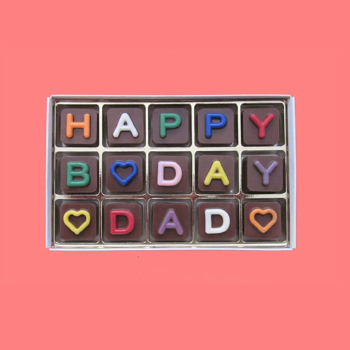 Happy Birthday Dad Chocolate Birthday Gift Present Unusual Fun Happy 60th B Day