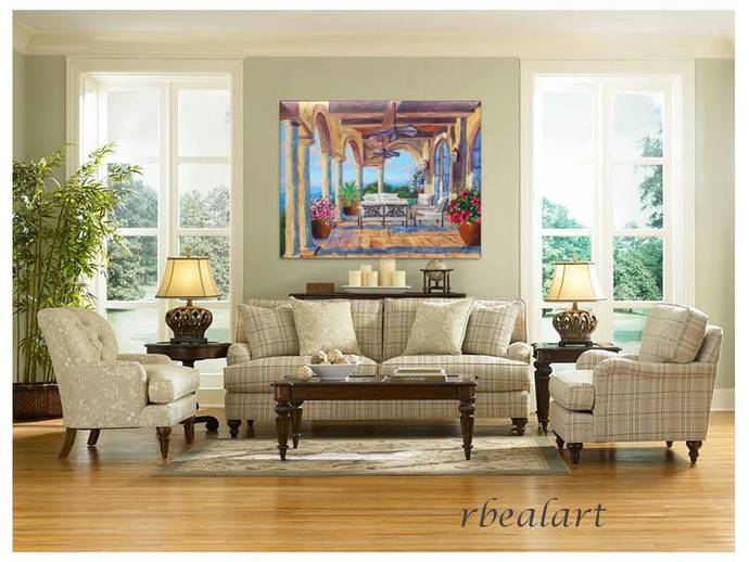 The Retreat Original Landscape oil painting Signed Canvas Art Rebecca Beal