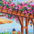 Original Art Oil Painting Signed Flower Art Landscape Flower Painting on Canvas