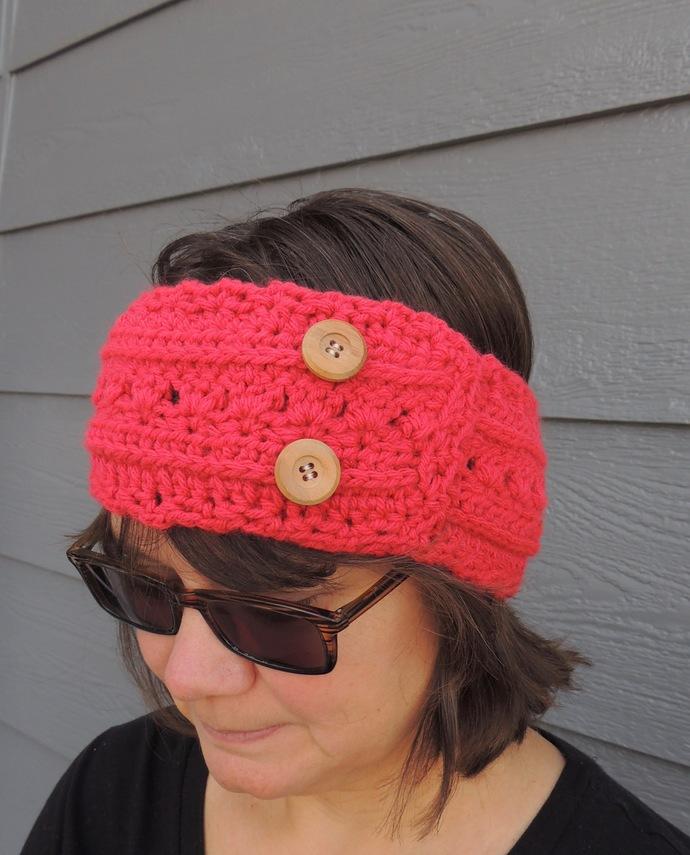 Crochet Woman's Ear Warmer Winter Headband