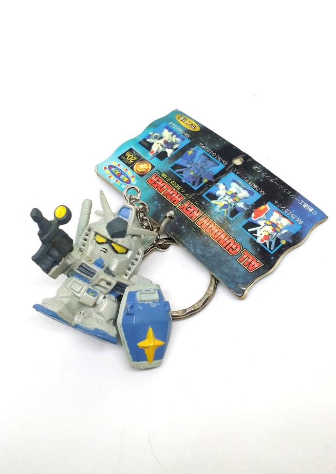 1999 Gundam 20th Anniversary RX-78-3 G3 Figure Keychain / Keyholder / Charms -