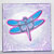 Dragonfly Solo mixed-media stretched canvas print, gallery wrapped, 10 x 10