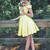 Off the Shoulder Two Piece Prom Dress, Yellow Short Homecoming Dress