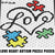 Love Heart Autism Awareness Puzzle Pieces crochet graphgan blanket pattern; c2c,