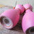 Pink cat magnetic salt and pepper shakers / wood cat salt and pepper shakers