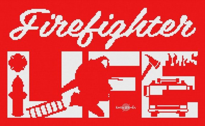 Fire Fighter Life Crochet Blanket Pattern