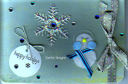 Snowing in the Happy Holidays Greeting Card
